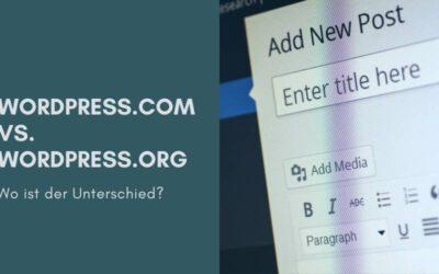 Wo ist eigentlich der Unterschied zwischen WordPress.org und WordPress.com?